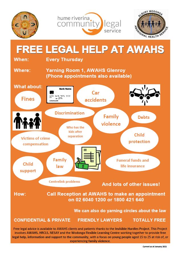 Free Legal Advice - Hume Riverina Legal Service